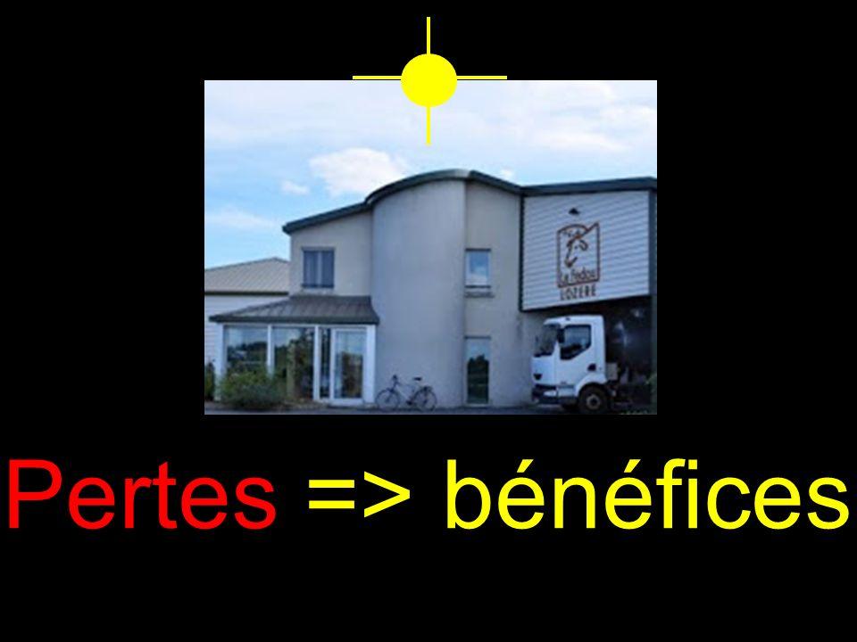 Pertes => bénéfices