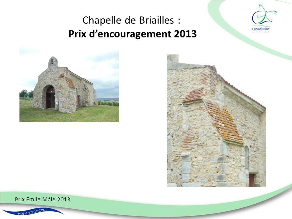 Chapelle de Briailles : Prix dencouragement 2013 Prix Emile Mâle 2013