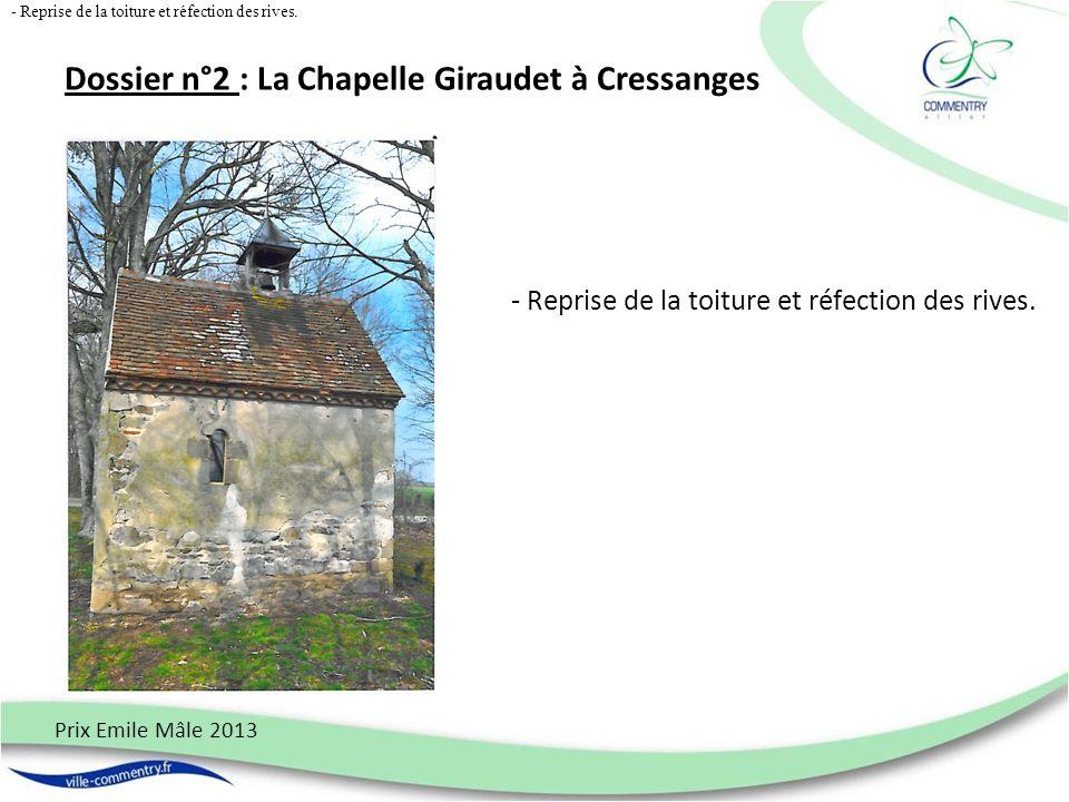 Dossier n° 3 : Ensemble immobilier de quatre maisons bicentenaires à Saint-Eloy dAllier Prix Emile Mâle 2013 - Maçonnerie – toiture – électricité - toiture.
