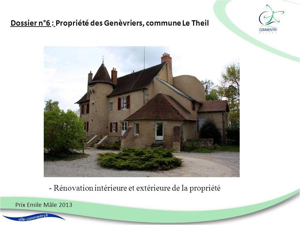 Dossier n°6 : Propriété des Genèvriers, commune Le Theil Prix Emile Mâle 2013 - Rénovation intérieure et extérieure de la propriété