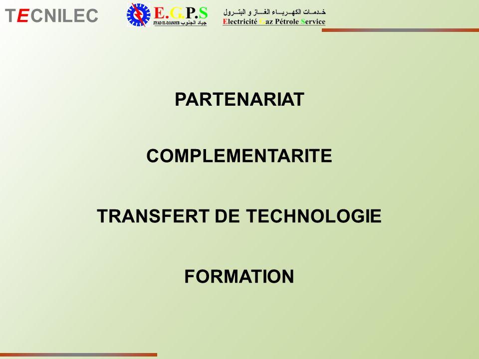 TE CNILEC PARTENARIAT TRANSFERT DE TECHNOLOGIE COMPLEMENTARITE FORMATION