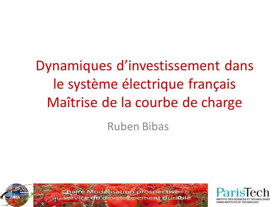 Dynamiques dinvestissement dans le système électrique français Maîtrise de la courbe de charge Ruben Bibas
