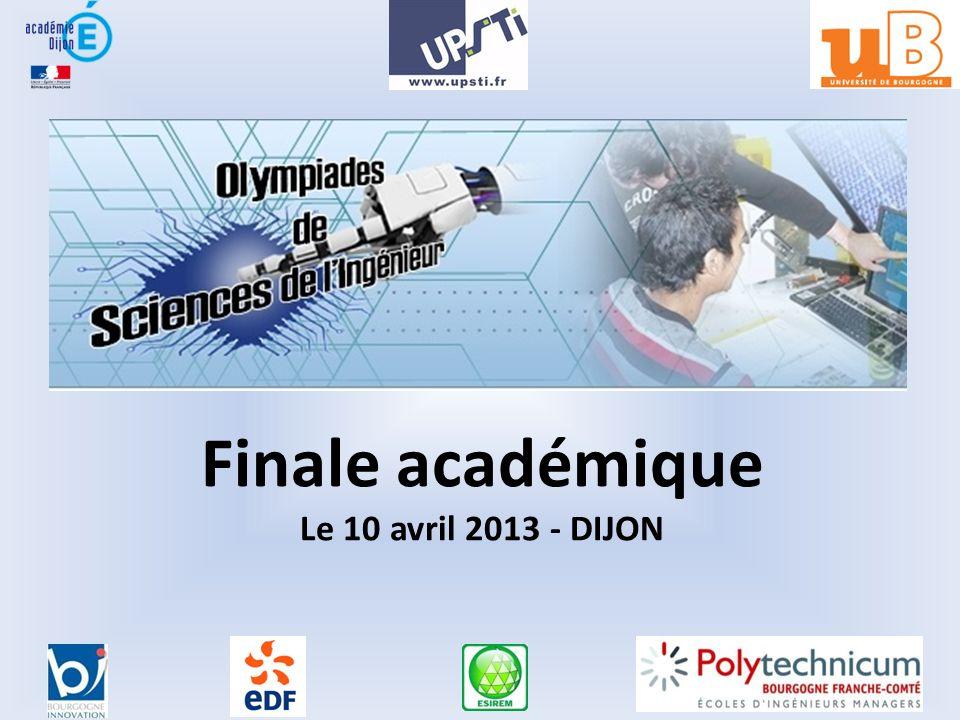 Finale académique Le 10 avril 2013 - DIJON