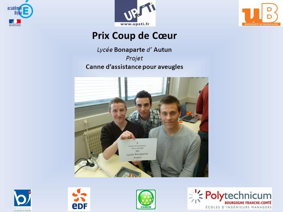 Prix Coup de Cœur Lycée Bonaparte d Autun Projet Canne dassistance pour aveugles