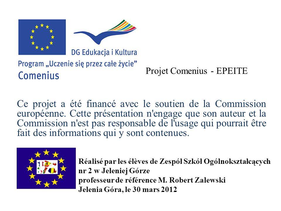 Ce projet a été financé avec le soutien de la Commission européenne. Cette présentation n'engage que son auteur et la Commission n'est pas responsable