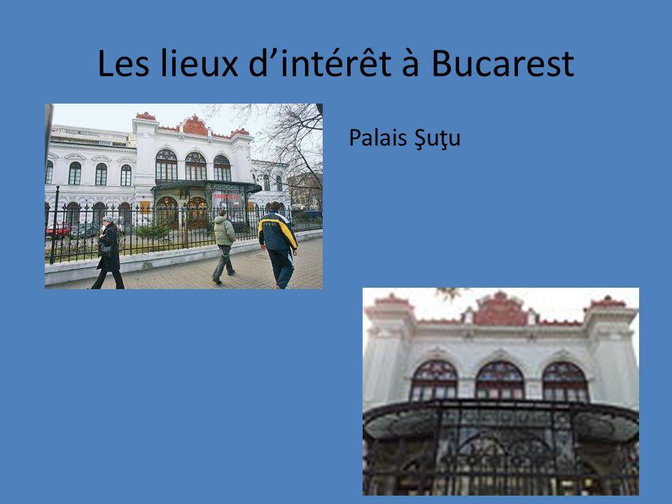 Les lieux dintérêt à Bucarest Palais Şuţu
