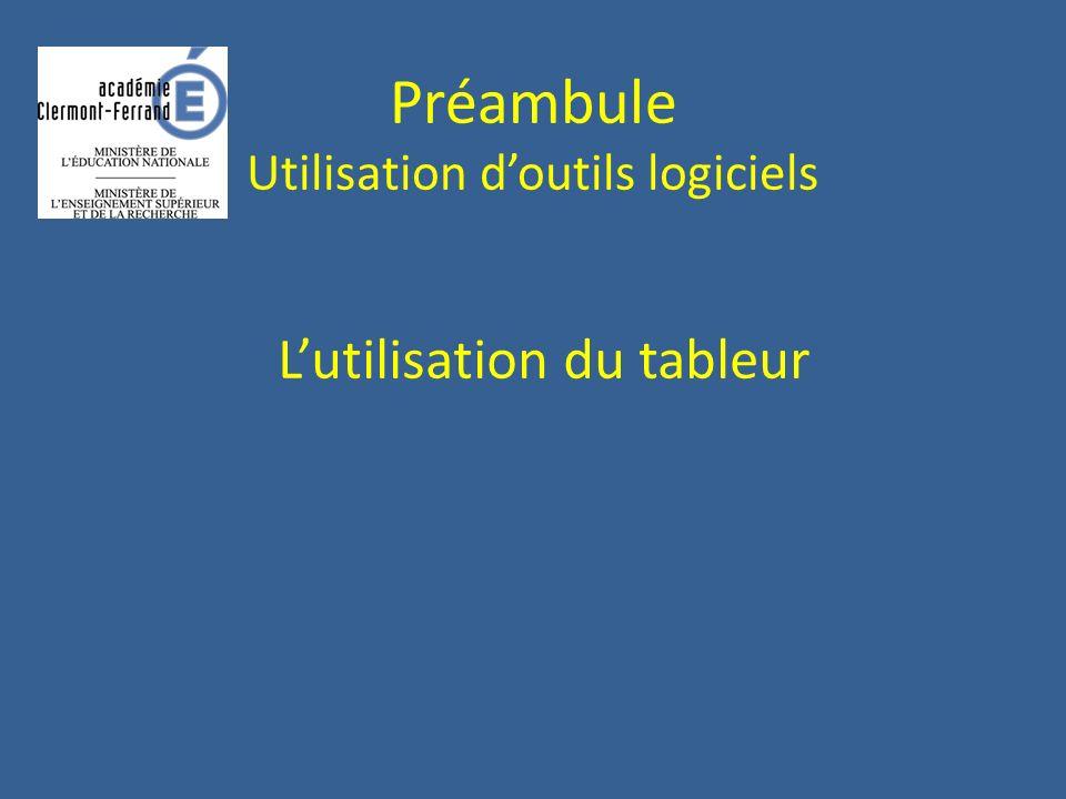 Préambule Utilisation doutils logiciels Calculatrice