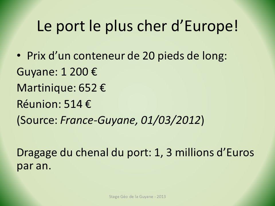 Le port le plus cher dEurope.