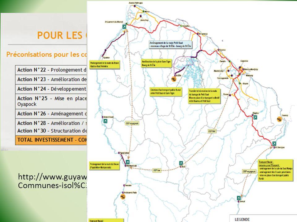 http://www.guyaweb.com/wp-content/uploads/2012/10/PGTD- Communes-isol%C3%A9es.pdf Stage Géo de la Guyane - 2013