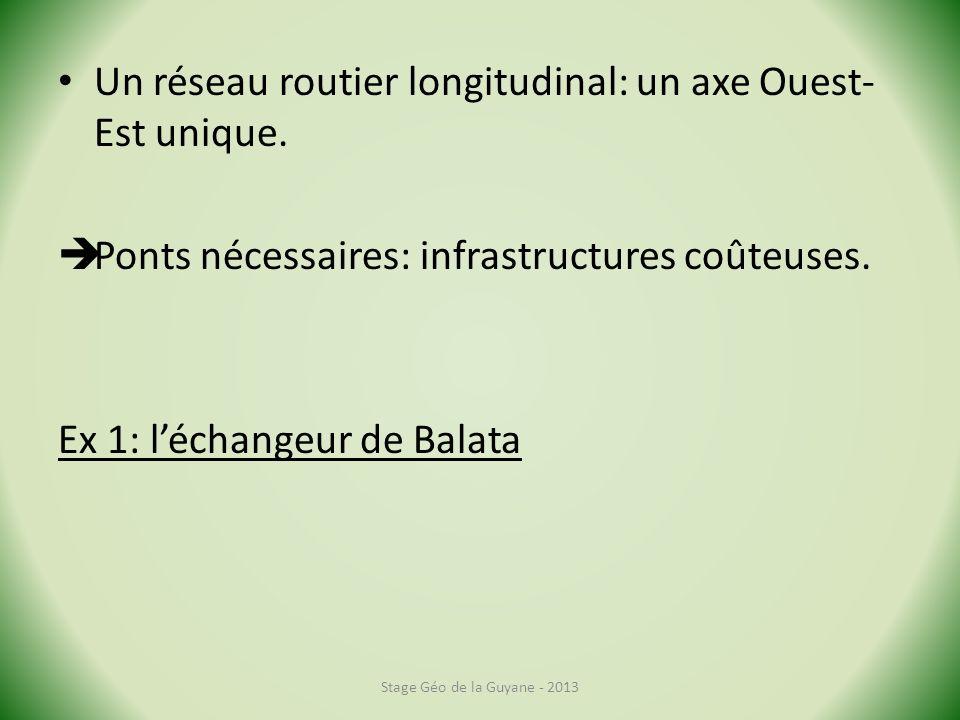 Un réseau routier longitudinal: un axe Ouest- Est unique.