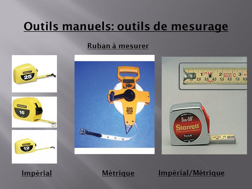 Ruban à mesurer ImpérialMétrique Outils manuels: outils de mesurage Impérial/Métrique