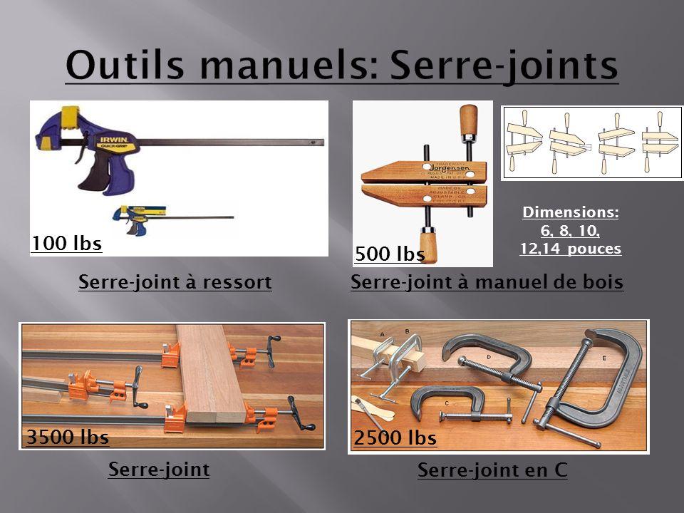 Serre-joint à manuel de bois Dimensions: 6, 8, 10, 12,14 pouces Serre-joint en C Serre-joint Serre-joint à ressort 100 lbs 500 lbs 3500 lbs 2500 lbs
