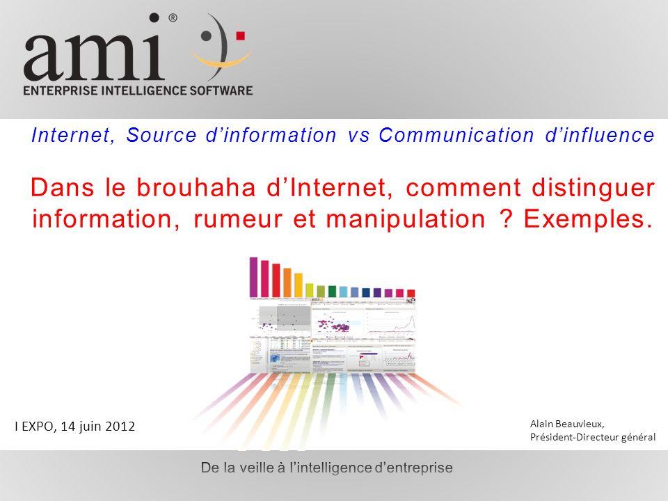 Internet, Source dinformation vs Communication dinfluence Dans le brouhaha dInternet, comment distinguer information, rumeur et manipulation ? Exemple
