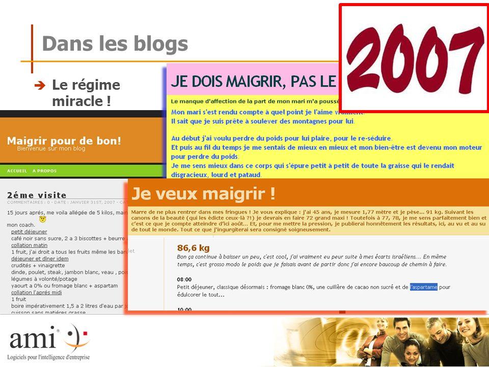 Dans les blogs Le régime miracle !
