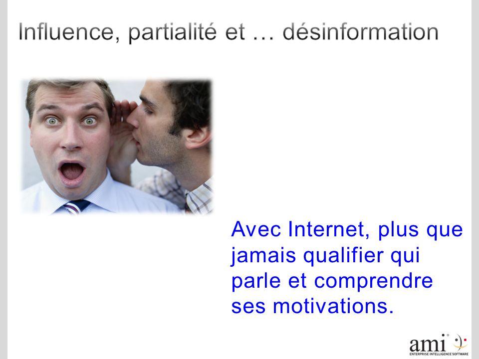 Avec Internet, plus que jamais qualifier qui parle et comprendre ses motivations.