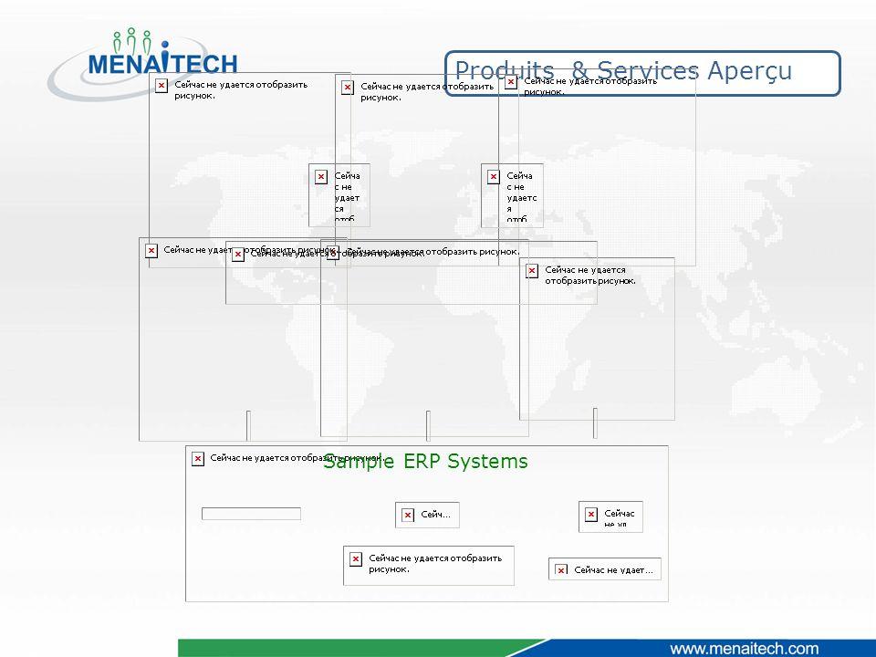 Produits & Services Aperçu Sample ERP Systems