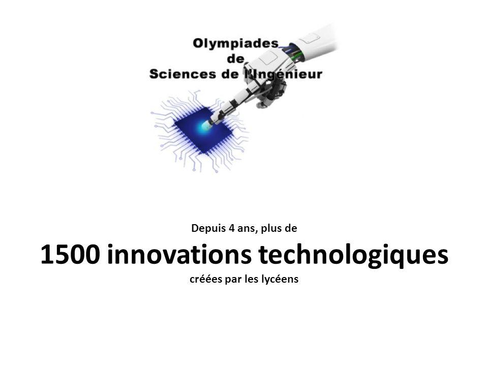 Depuis 4 ans, plus de 1500 innovations technologiques créées par les lycéens