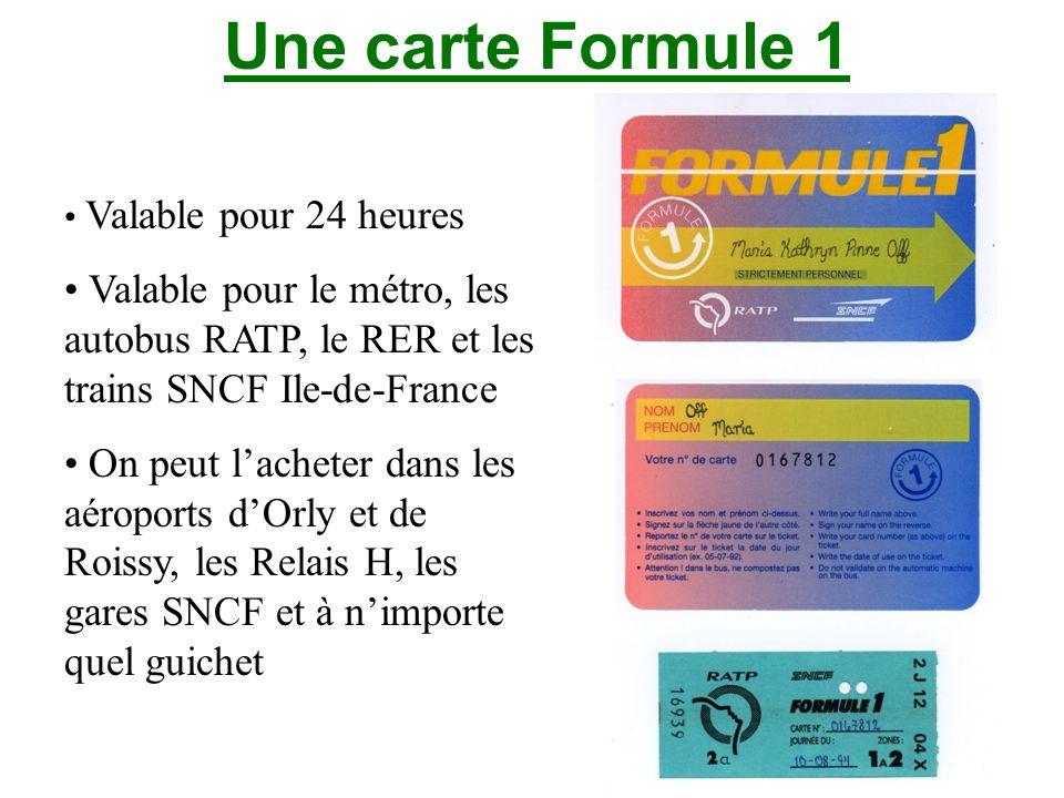 Des billets pour le métro Un billet pour le métro à Buffalo Un billet pour le métro parisien Un billet pour le RER à Paris
