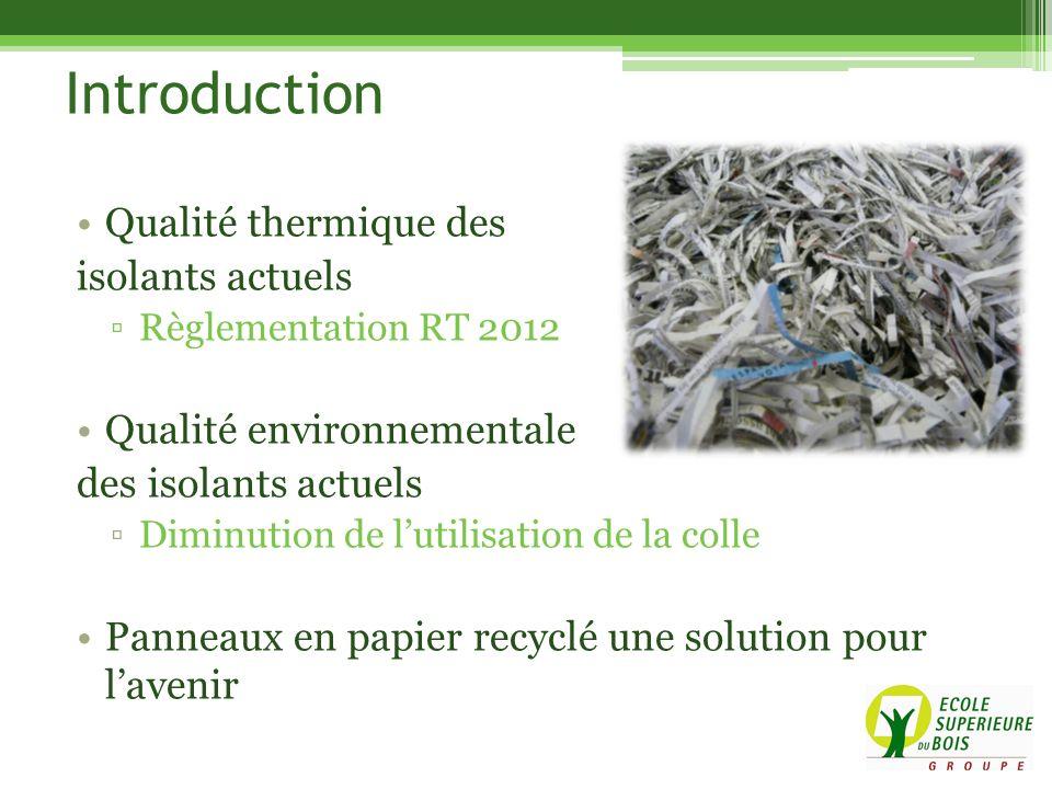 Qualité thermique des isolants actuels Règlementation RT 2012 Qualité environnementale des isolants actuels Diminution de lutilisation de la colle Pan