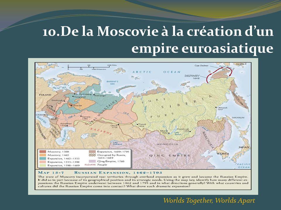 10.De la Moscovie à la création dun empire euroasiatique Worlds Together, Worlds Apart