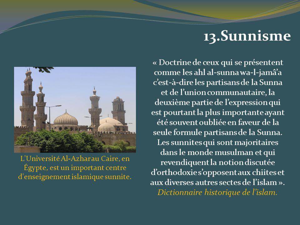 « Doctrine de ceux qui se présentent comme les ahl al-sunna wa-l-jamâa cest-à-dire les partisans de la Sunna et de lunion communautaire, la deuxième p