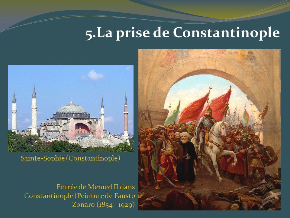 Entrée de Memed II dans Constantinople (Peinture de Fausto Zonaro (1854 - 1929) 5.La prise de Constantinople Sainte-Sophie (Constantinople)