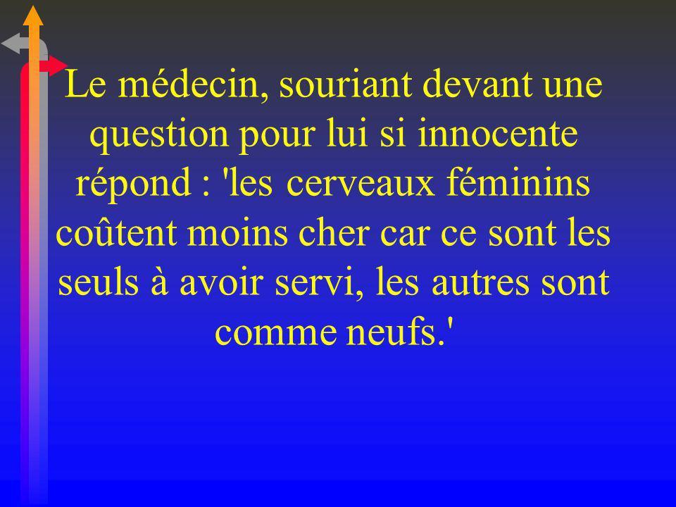 ENVOYEZ CE MAIL A DES FEMMES INTELLIGENTES QUI ONT BESOIN DE SOURIRE ET AUSSI AUX HOMMES QUI POURRONT LE SUPPORTER...
