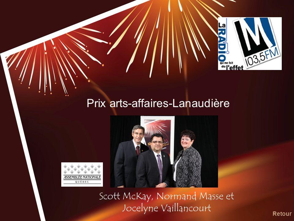 Prix arts-affaires-Lanaudière Scott McKay, Normand Masse et Jocelyne Vaillancourt Retour