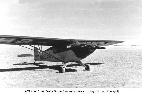 TAGEO – Piper PA-12 Super Cruiser suisse à Touggourt (Ivan Carayol)