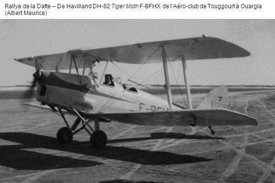 Rallye de la Datte – De Havilland DH-82 Tiger Moth F-BFHX de lAéro-club de Touggourt à Ouargla (Albert Meurice)