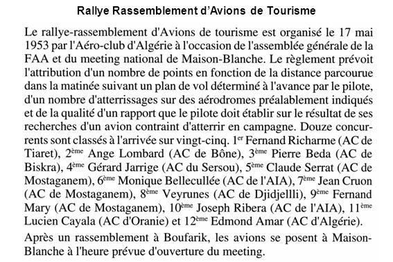 Rallye Rassemblement dAvions de Tourisme