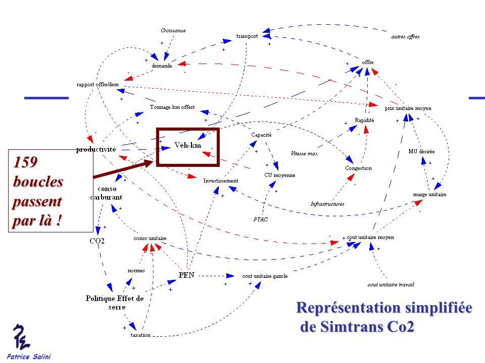 Patrice Salini Représentation simplifiée de Simtrans Co2 de Simtrans Co2 159 boucles passent par là !