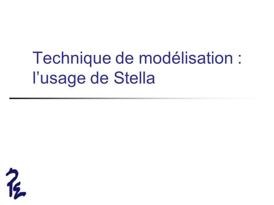Technique de modélisation : lusage de Stella
