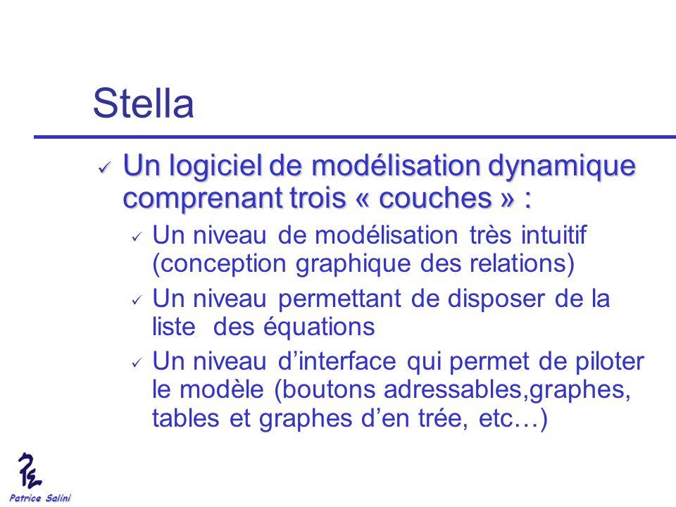 Patrice Salini Stella Un logiciel de modélisation dynamique comprenant trois « couches » : Un logiciel de modélisation dynamique comprenant trois « co