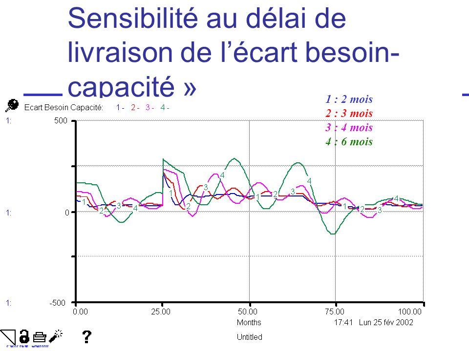 Patrice Salini Sensibilité au délai de livraison de lécart besoin- capacité » 1 : 2 mois 2 : 3 mois 3 : 4 mois 4 : 6 mois