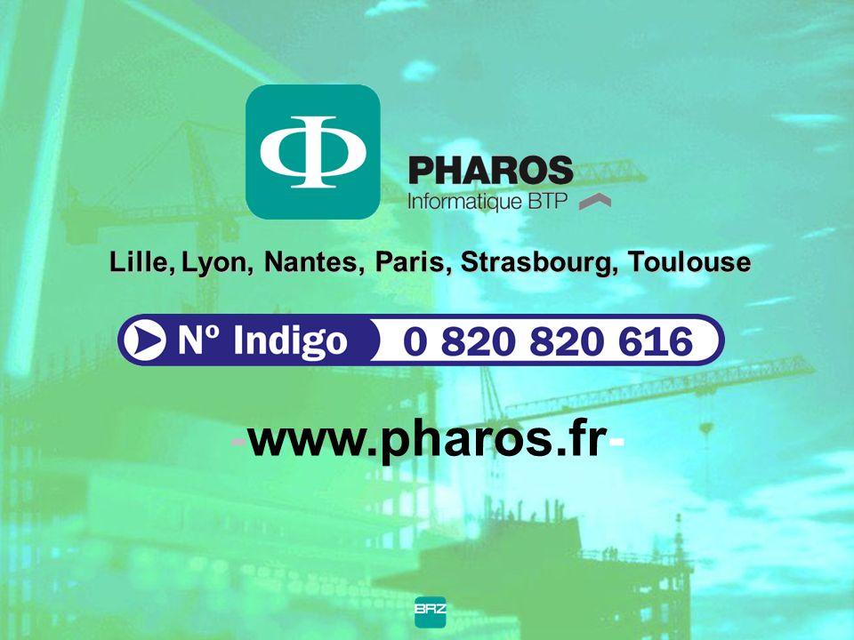 Lille, Lyon, Nantes, Paris, Strasbourg, Toulouse -www.pharos.fr-