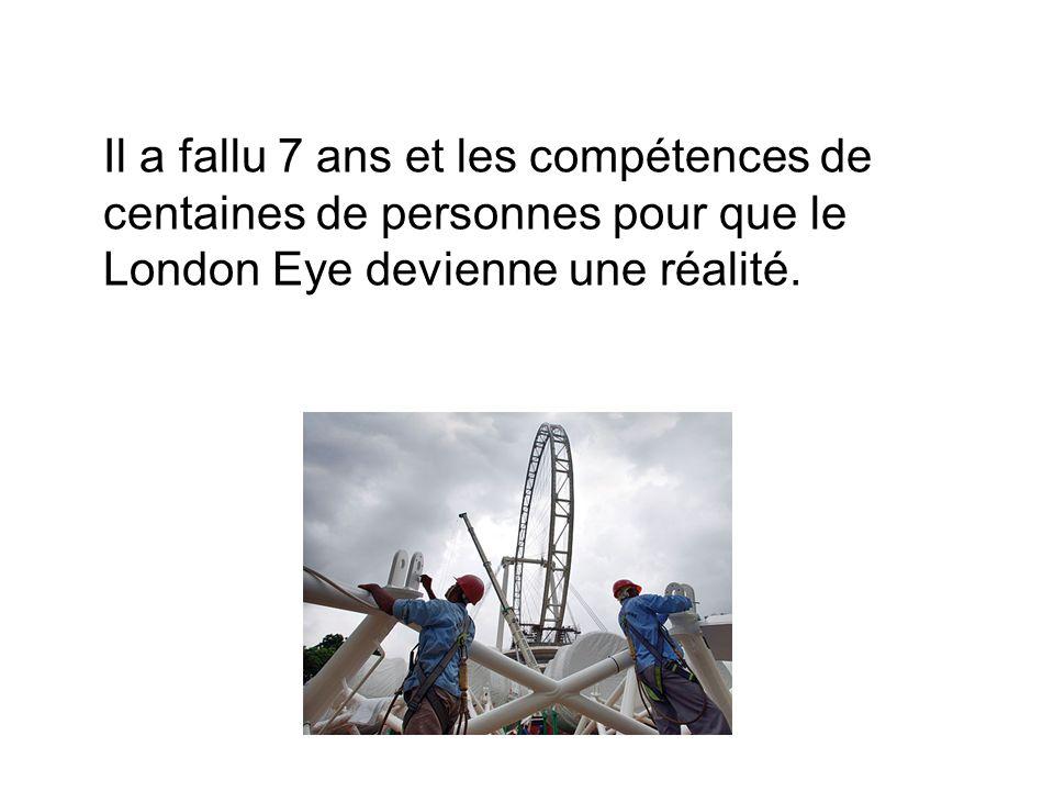 Il a fallu 7 ans et les compétences de centaines de personnes pour que le London Eye devienne une réalité.