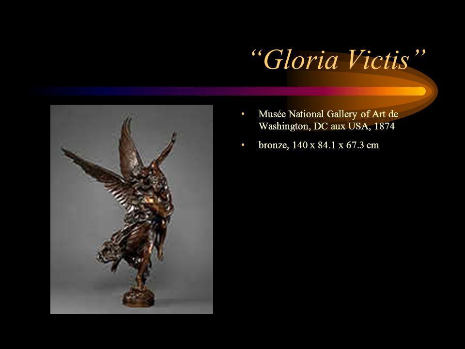 Gloria Victis Musée National Gallery of Art de Washington, DC aux USA, 1874 bronze, 140 x 84.1 x 67.3 cm