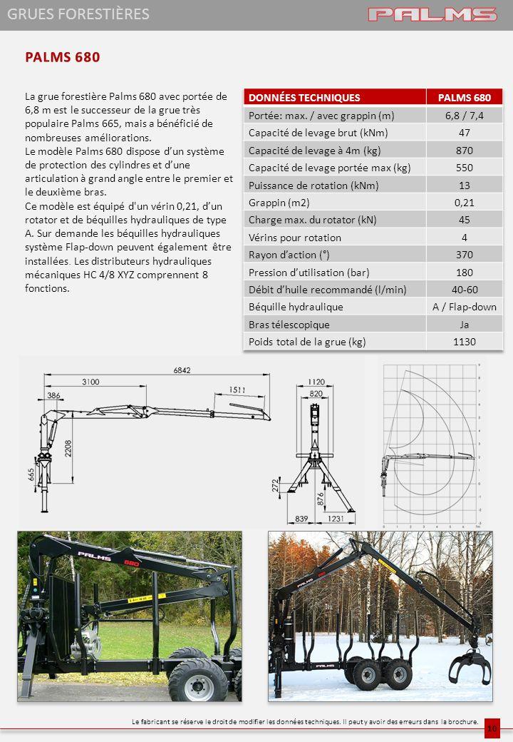 La grue forestière Palms 680 avec portée de 6,8 m est le successeur de la grue très populaire Palms 665, mais a bénéficié de nombreuses améliorations.