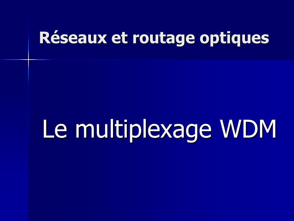 Réseaux et routage optiques Le multiplexage WDM