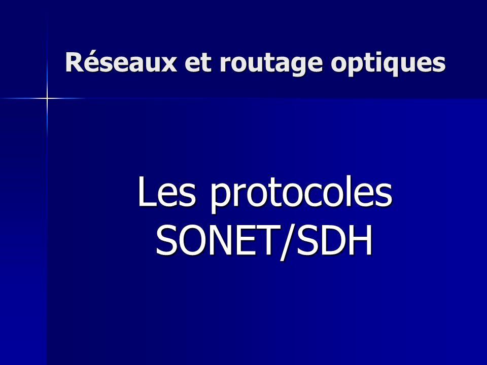 Réseaux et routage optiques Les protocoles SONET/SDH