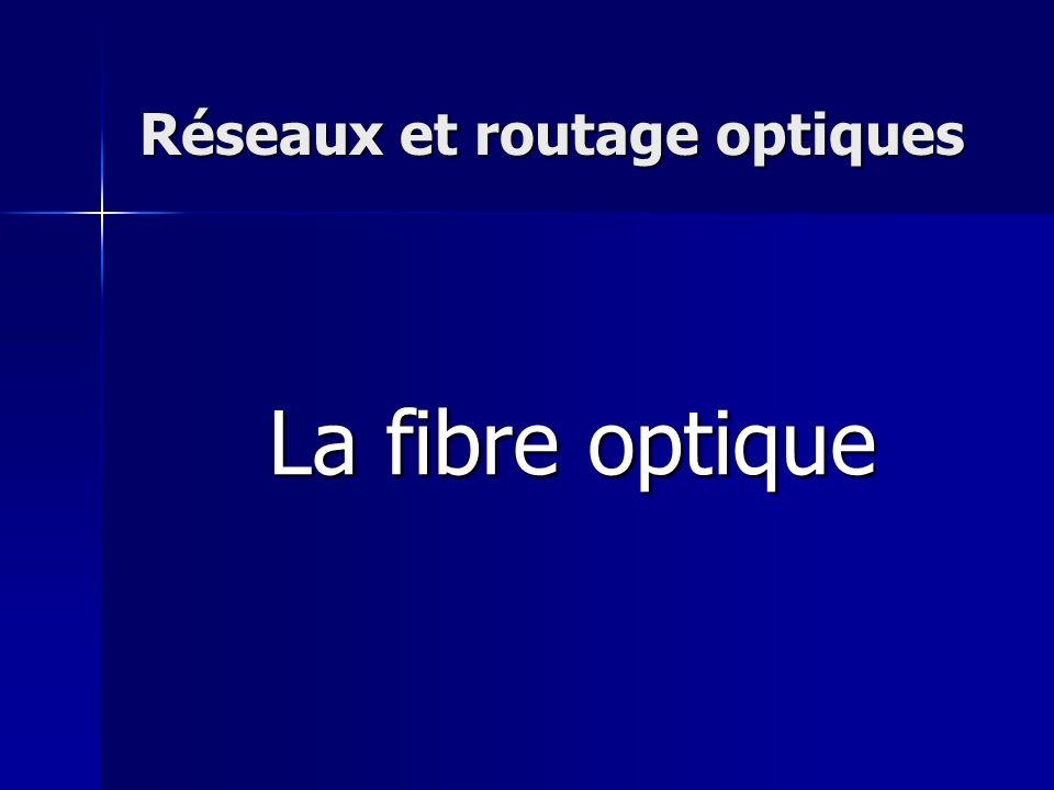 Réseaux et routage optiques La fibre optique
