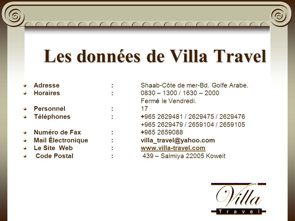 Les données de Villa Travel Adresse: Shaab-Côte de mer-Bd.