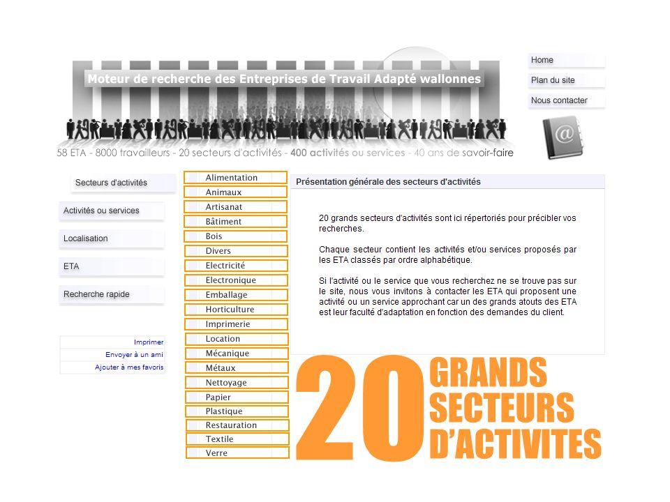 GRANDS SECTEURS DACTIVITES 20