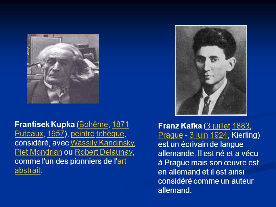 Frantisek Kupka (Bohême, 1871 - Puteaux, 1957), peintre tchèque, considéré, avec Wassily Kandinsky, Piet Mondrian ou Robert Delaunay, comme l'un des p