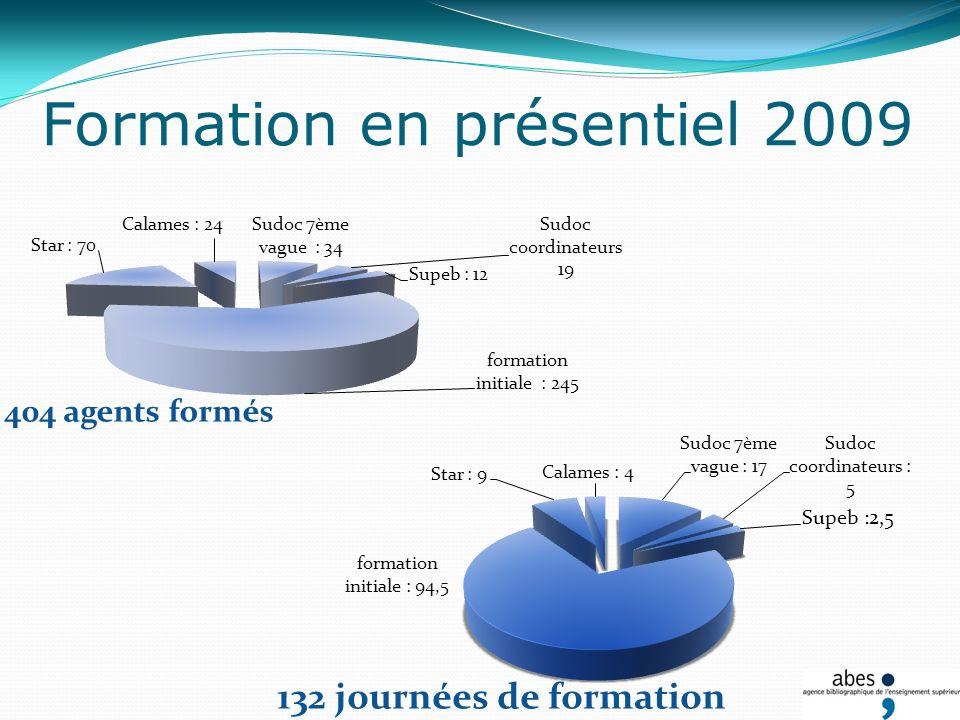 Formation en présentiel 2009