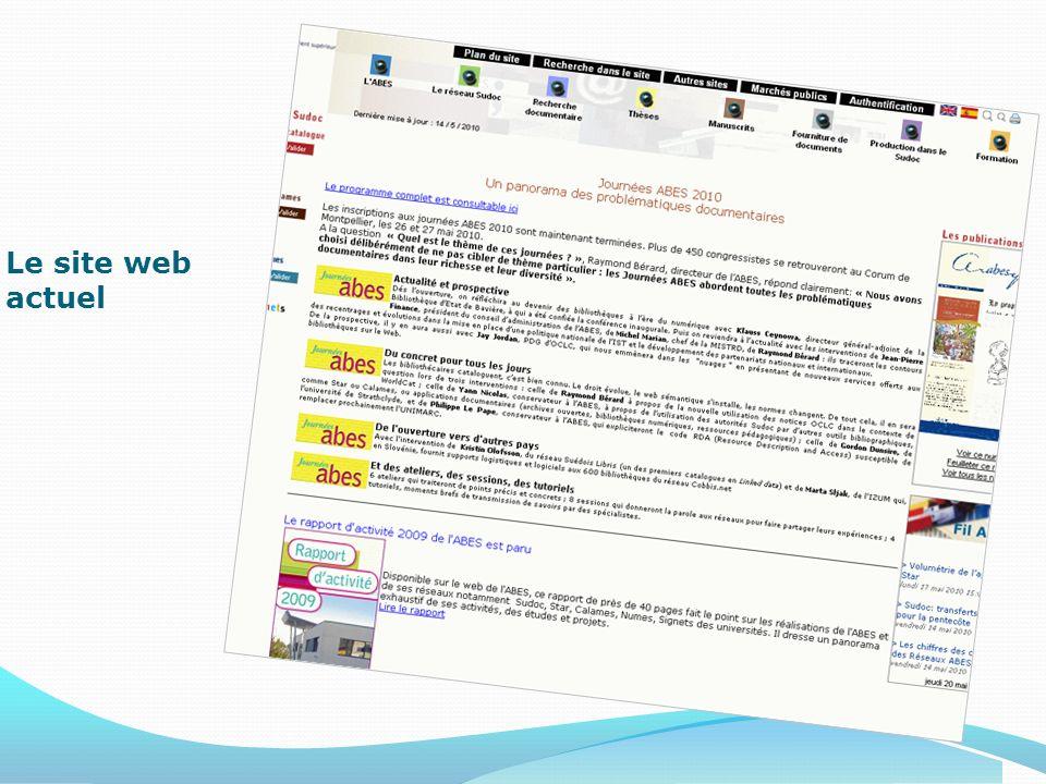 Le site web actuel