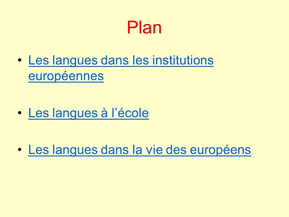 Plan Les langues dans les institutions européennesLes langues dans les institutions européennesLes langues dans les institutions européennesLes langue