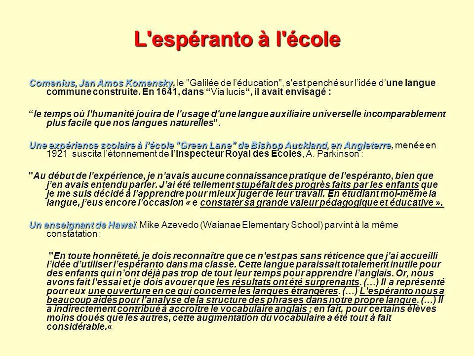 L'espéranto à l'école Comenius, Jan Amos Komensky Comenius, Jan Amos Komensky, le