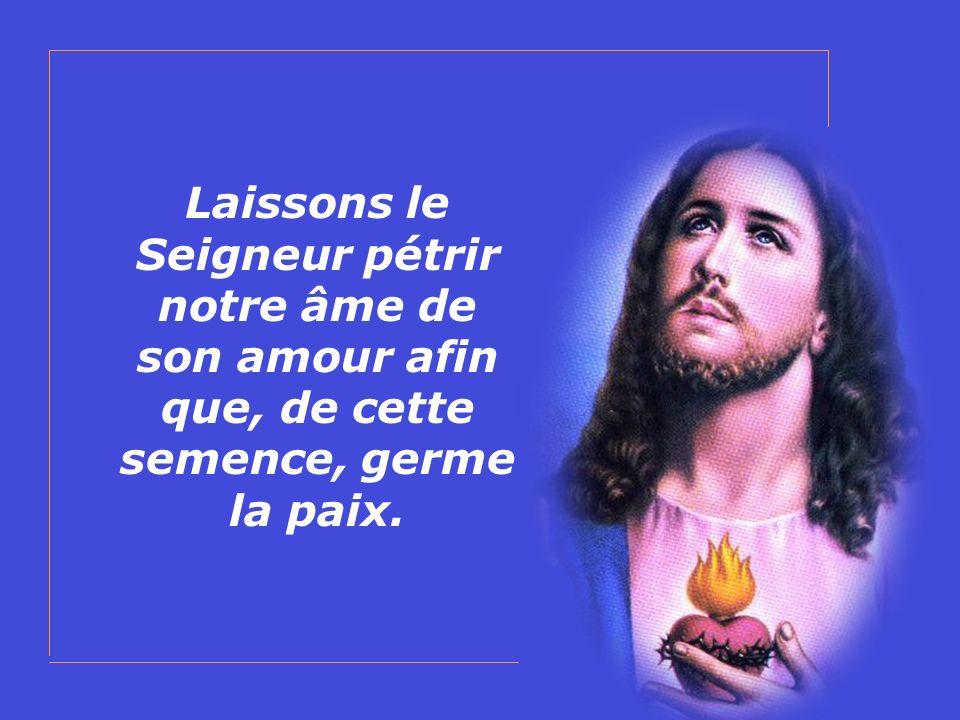 Laissons le Seigneur pétrir notre âme de son amour afin que, de cette semence, germe la paix.